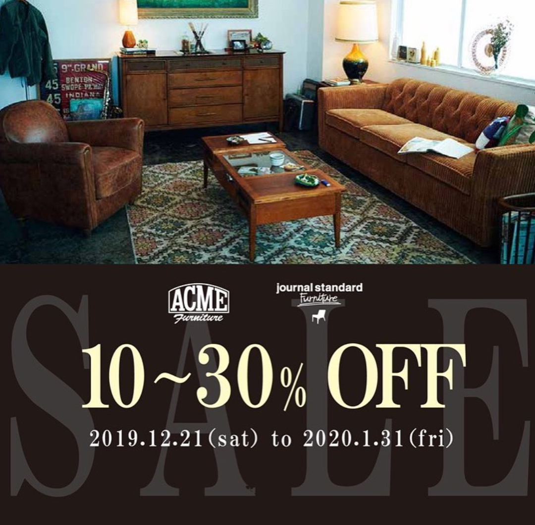 ◆ACME Furniture & journal standard Furniture期間限定セール◆